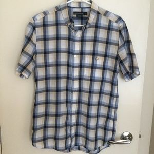 French connection 100% cotton short sleeves shirt